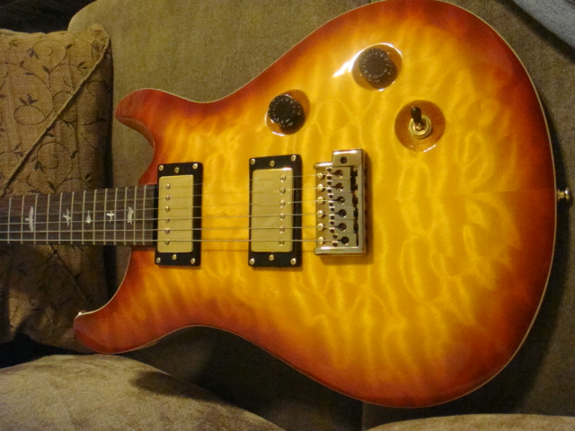 View of sunburst maple top