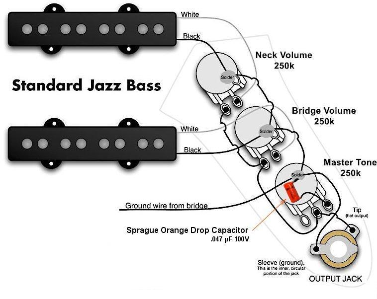jazz bass pickup wiring diagram fender jazz bass pickup wiring diagram