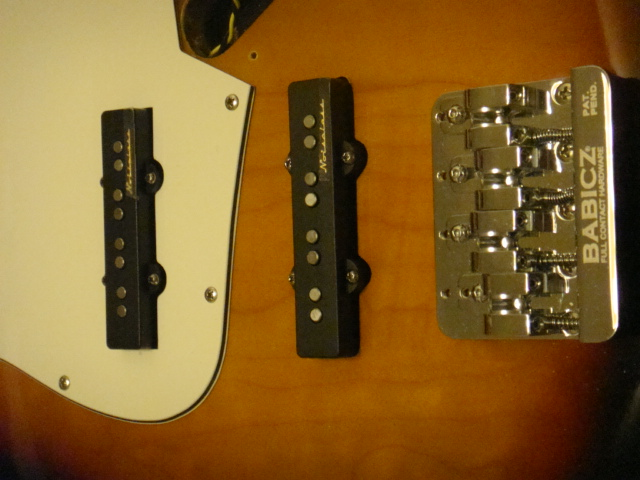bridge and pickups installed