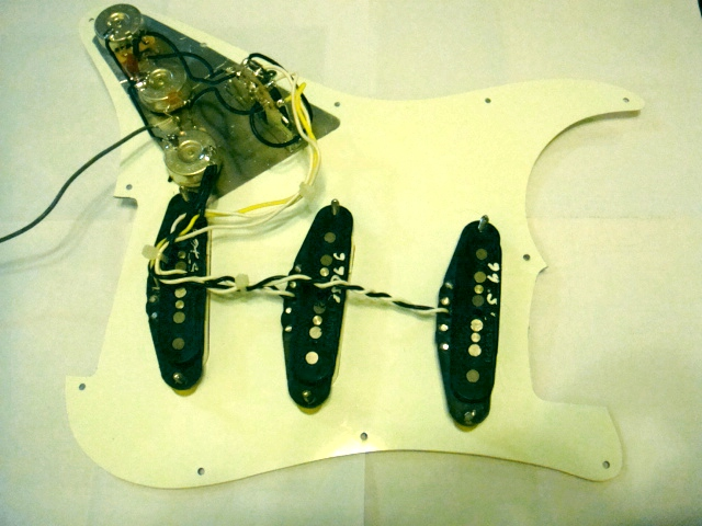 fender squier bullet strat upgrade soniccapture completed wiring